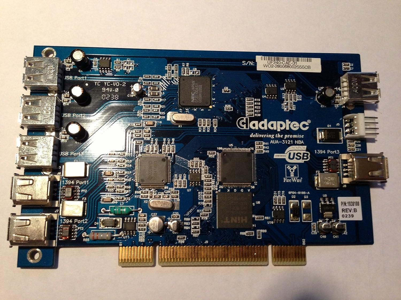 2 Firewire Port PCI Epansion Card NEW Adaptec Duo Connect AUA-3121 HBA 3 USB
