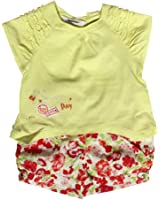 3Pommes Baby Girl's Cotton T-Shirt and Short Colors Girl