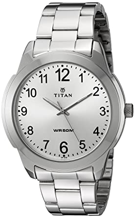 f3d81b56b1f Image Unavailable. Image not available for. Colour: Titan Analog White Dial Men's  Watch ...