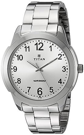 b2869b2be1 Amazon.com: Titan Men's 'Neo' Quartz Metal and Brass Watch, Color ...