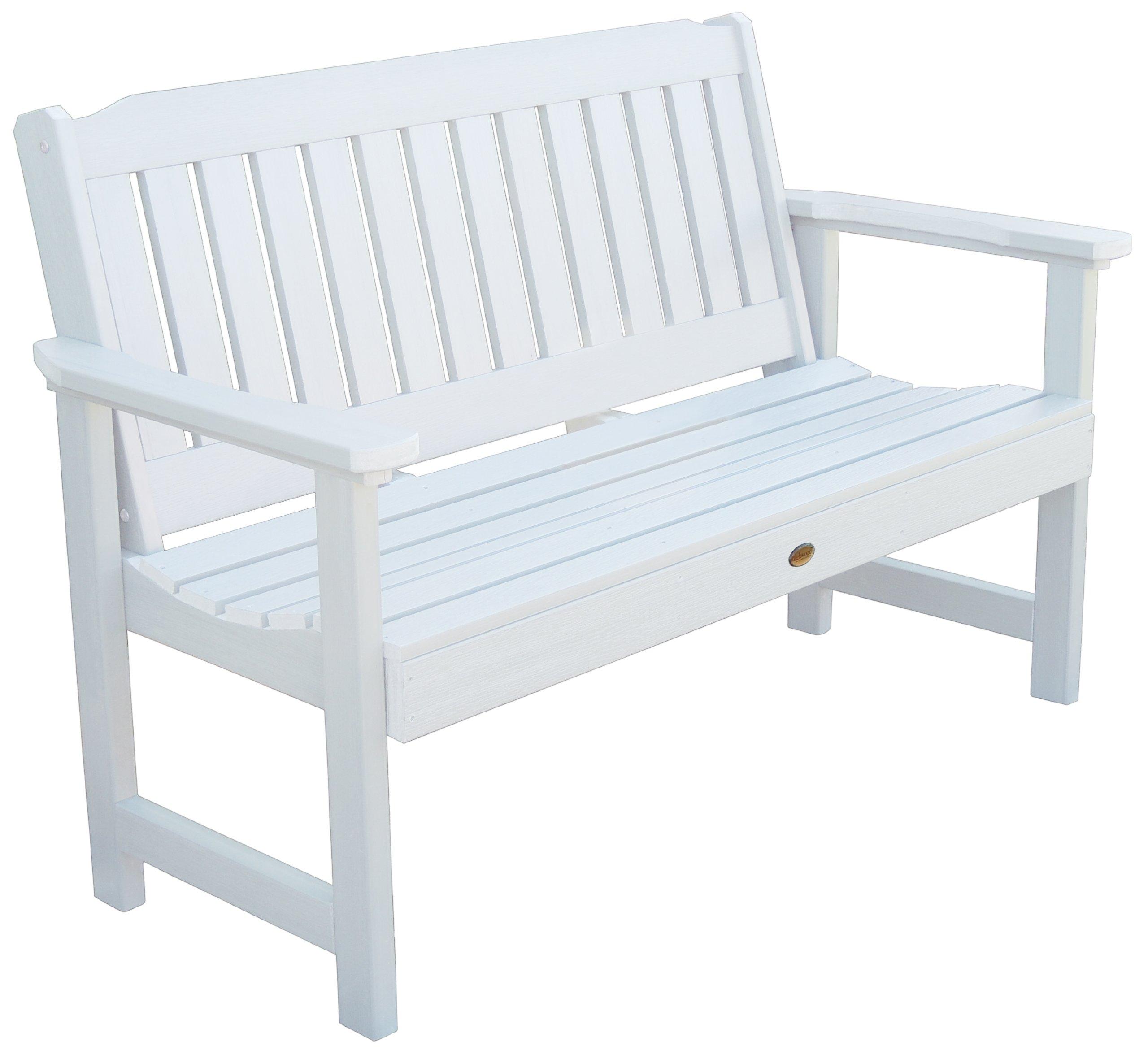 Highwood Lehigh Garden Bench, 4 Feet, White