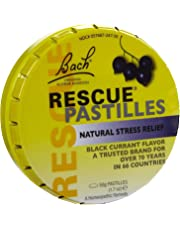 Bach Rescue Natural Stress Relief Flower Remedy Pastilles Black Currant - 1.7 oz (Pack of 6)