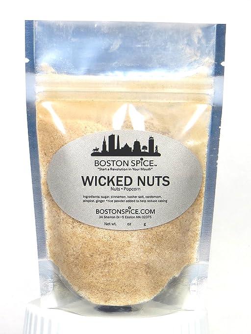 Boston Spice Wicked Nuts Handmade Gourmet Spiced Nut and Popcorn Seasoning