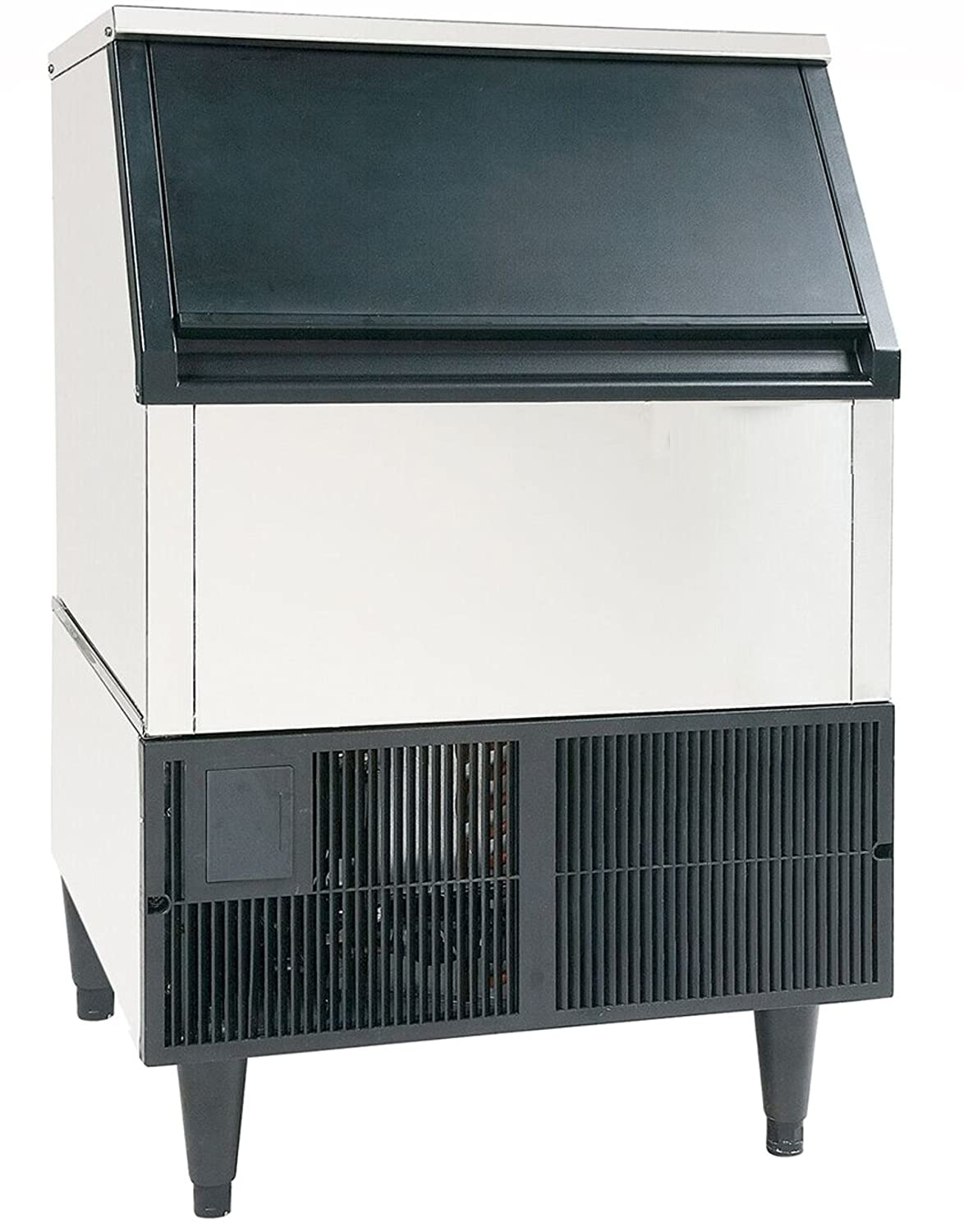 JET JIM260 Commercial Restaurant Kitchen Self Contained Stainless Steel Clear Ice Maker Machine Produces 260 Pounds of Ice Per Day Use Freestanding Undercounter Built-In, 24-Inch Wide, Silver