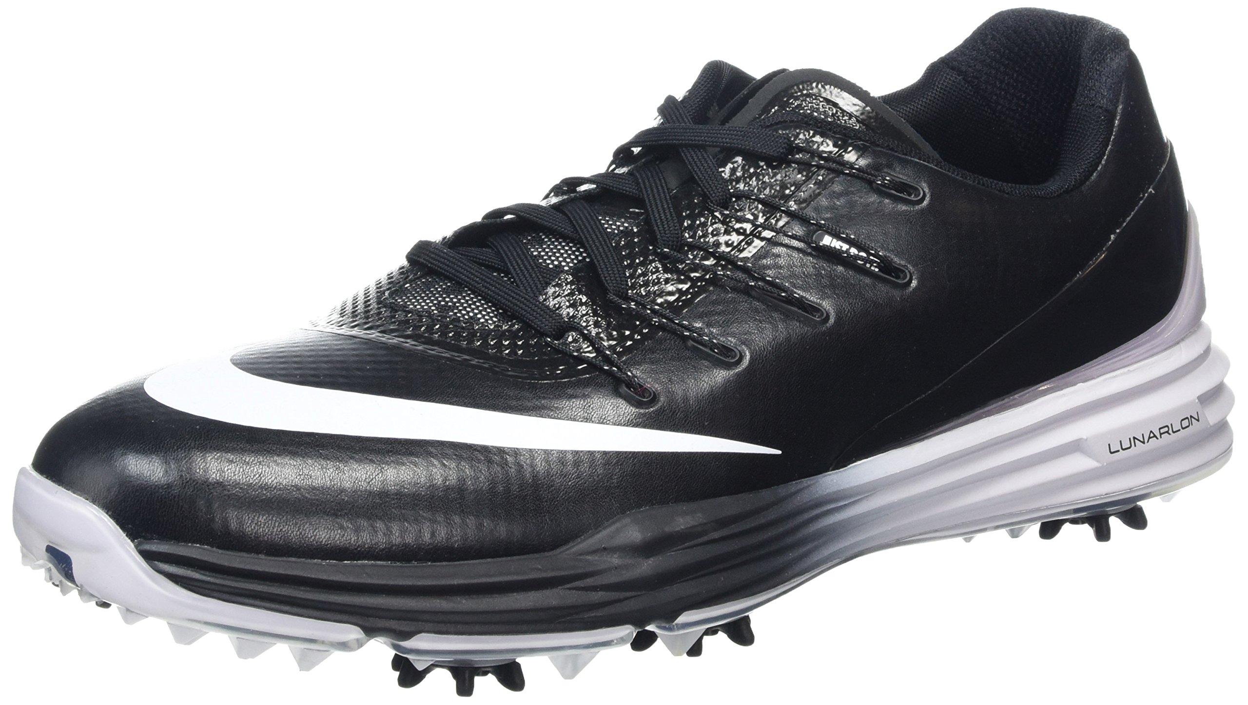 NIKE Lunar Control 4 Men's Golf Shoe (Black/White) 10
