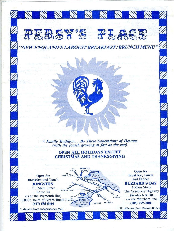 Amazon.com : Persy\'s Place Menu Buzzard\'s Bay & Kingston ...