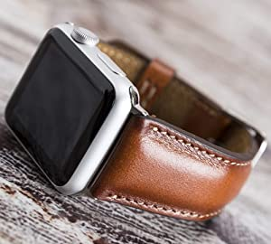Apple Watch Band for Women or Man, 38mm, 40mm, 42mm, 44mm, Brown iWatch Genuine Leather Strap, for Women Series 6, 5, 4, 3, 2, 1, Handmade EXPRESS SHIPPING, PERSONALIZATION AVAILABLE