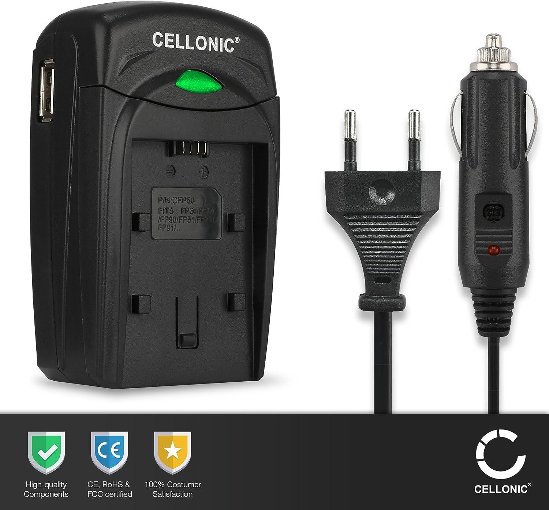 DCR-PC3, -PC1, -PC5, Cyber-shot DSC-F505, -P1, -P50 cargador de coche -FS21 - incl cargador autom/óvil cargador bateria c/ámara fuente alimentaci/ón CELLONIC/® Cargador DC-VQ11 compatible con NP-FS11 cargador corriente -FS31