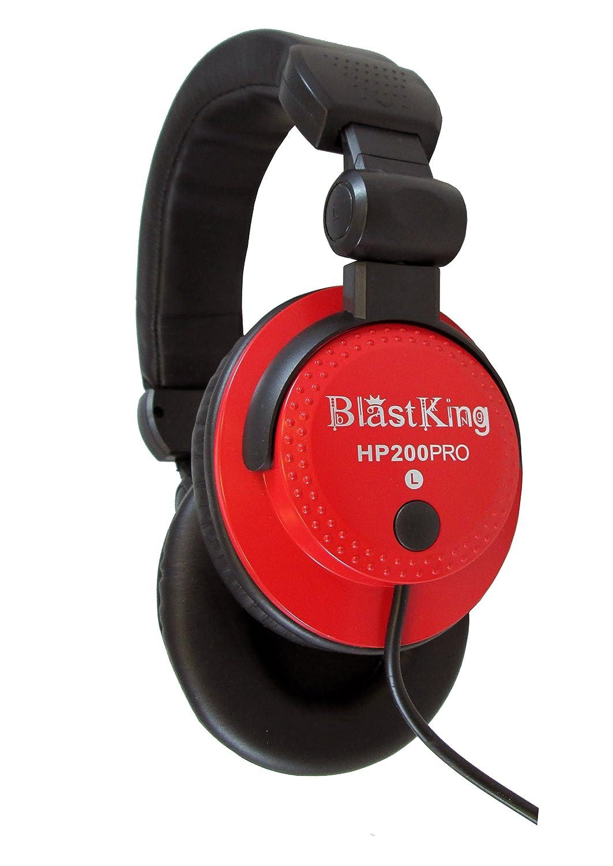 Blast King HP200PRO RD Professional DJ Headphones HP200PRO-RD