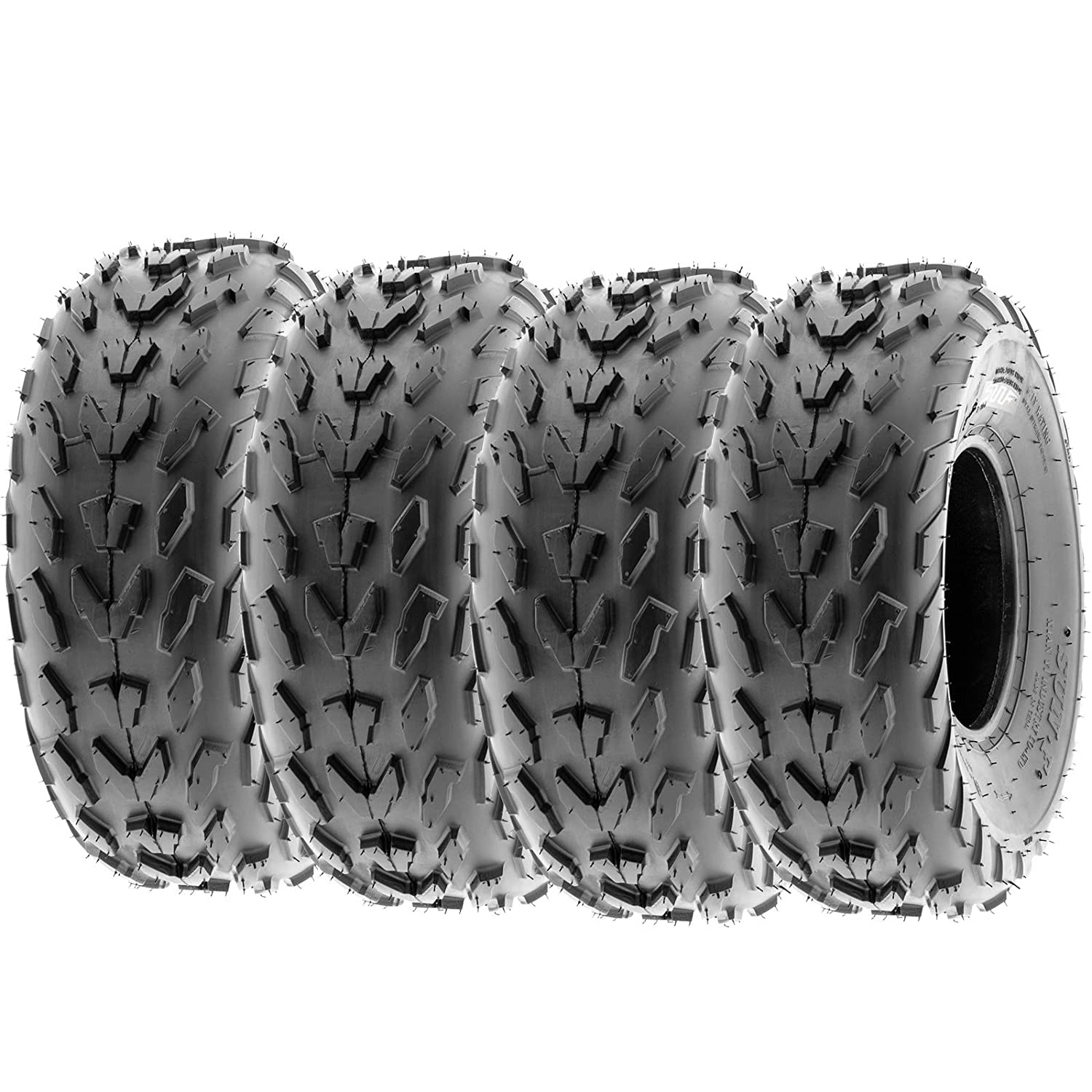 SunF Quad Race Replacement ALL TERRAIN ATV UTV 6 Ply Tires 20x7-8 20x7x8 Tubeless A007, [Set of 4] LCF1|A007|200708||x4