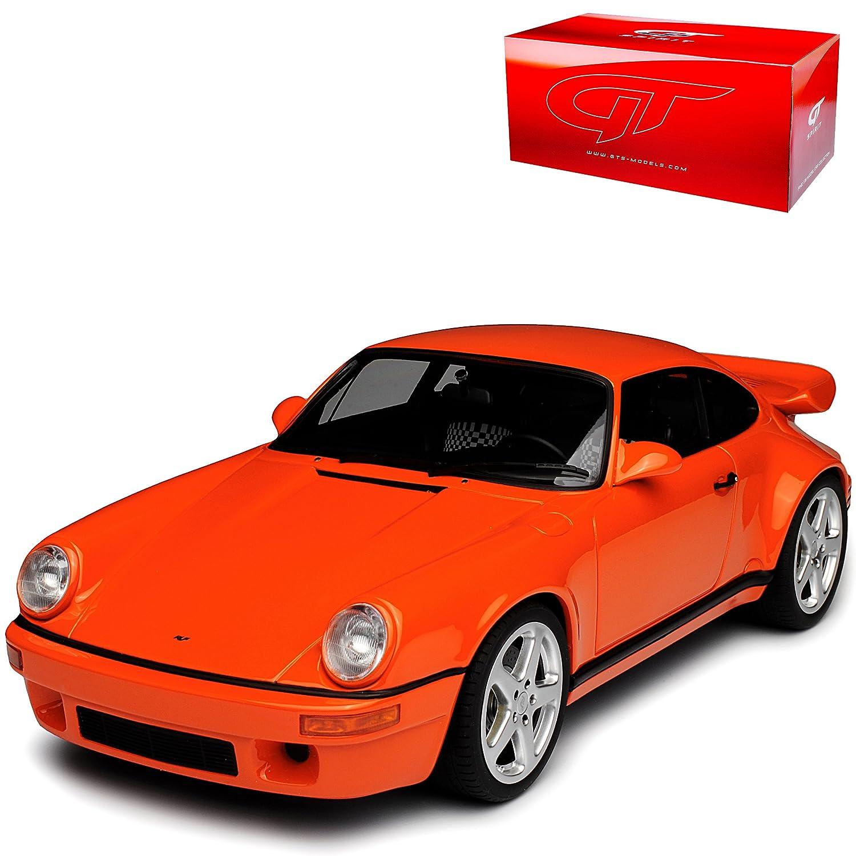 GT Spirit Porsche 911 964 RUF SCR 4.2 Orange Rot 1988-1994 Nr 192 1 18 Modell Auto mit individiuellem Wunschkennzeichen  Mit Wunschkennzeichen