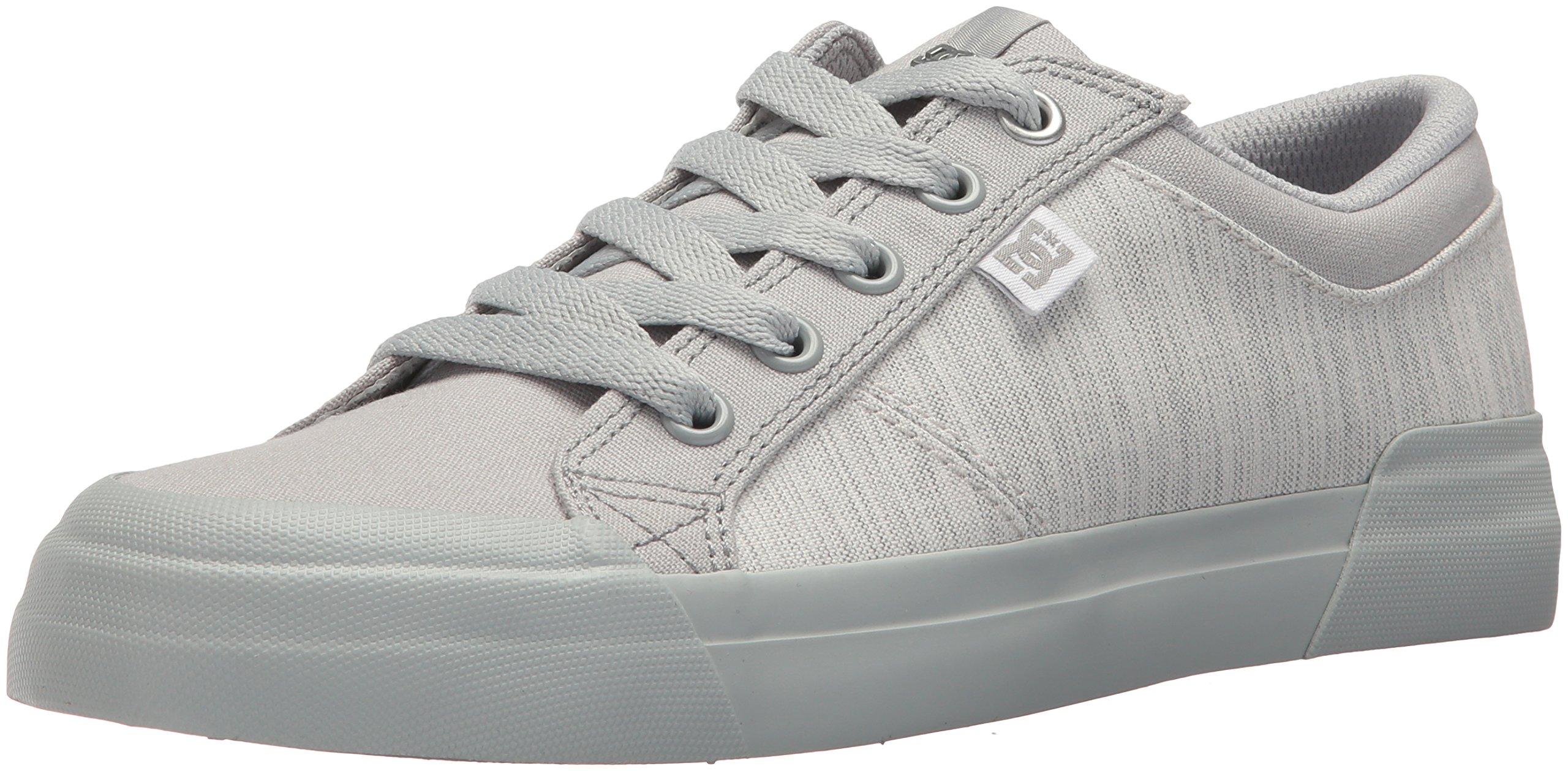 DC Women's Danni Tx Se Skate Shoe, Grey/Grey/Grey, 7 B US