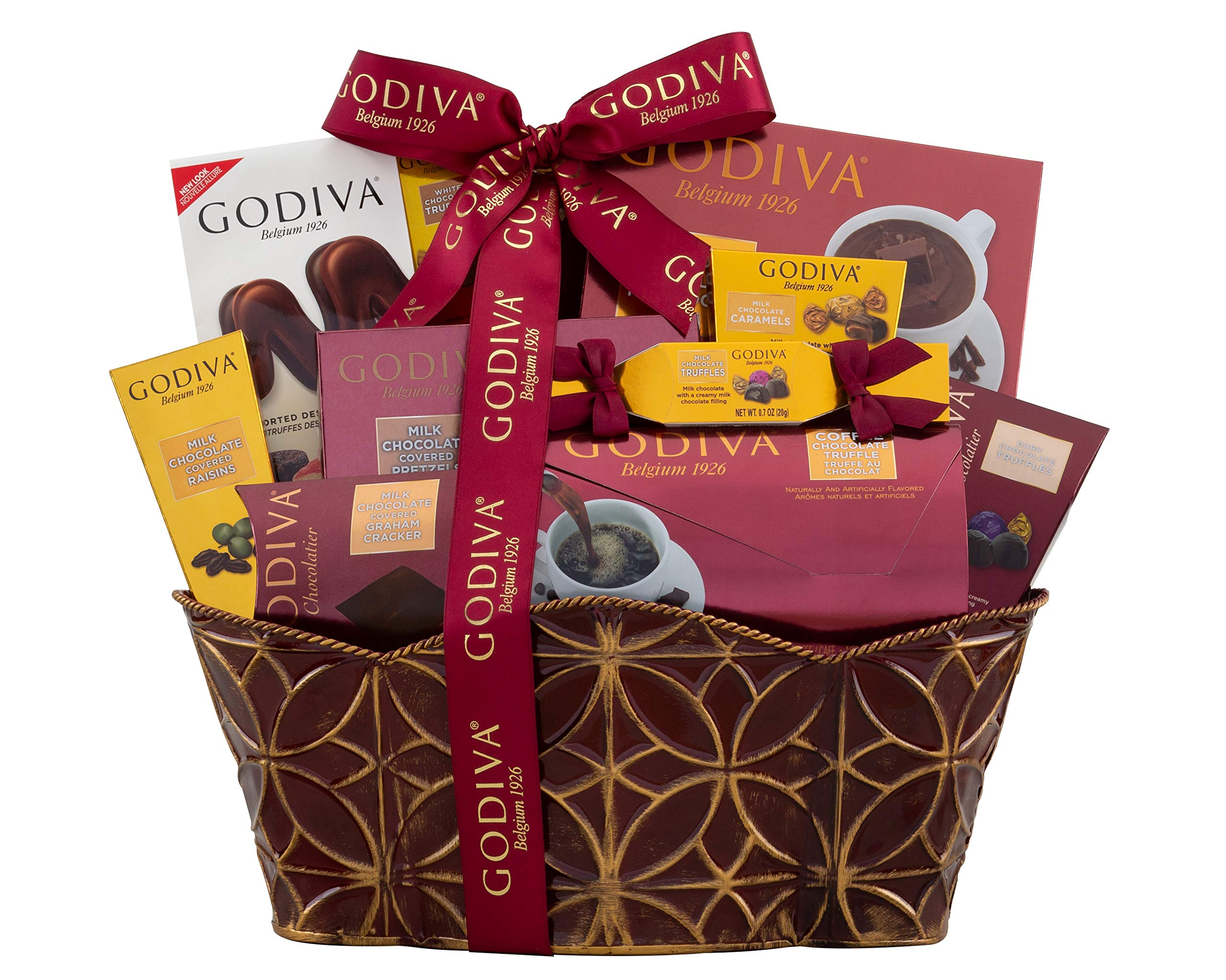Wine Country Gift Baskets Godiva Collection Gift Basket. Christmas Gift Basket. Holiday Gift Basket. Chocolate Gift Basket. Belgian Chocolate Gift Basket. Great for Co-Workers Gift Basket, Family Gift by Wine Country Gift Baskets