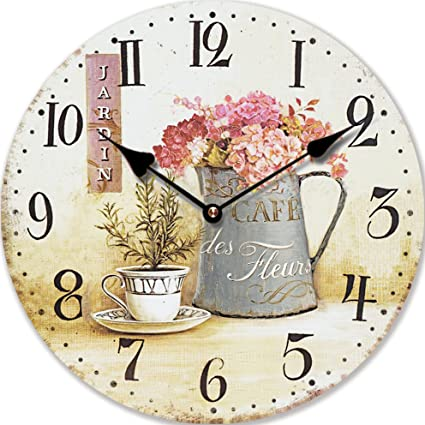 OROLOGIO DA PARETE HOME IS WHERE MY HEART IS SHABBY LOOK 30CM PER CUCINA O  SALOTTO NUOVO