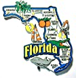 Florida Jumbo State Map Fridge Magnet