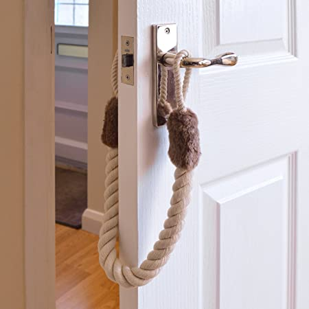 Doorstop Rope Set Of 2 Fits To Door Handles Stops Doors Slamming Shut Amazon Co Uk Kitchen Home