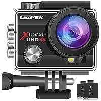 Campark ACT74 Action Cam 4K 16MP Wi-Fi Impermeabile 30M con 2 Batterie Custodia Impermeabile e Kit di Accessori