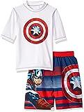 Marvel Little Captain America 2-Piece Swim