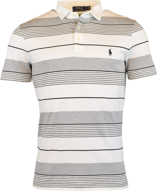 Ralph Lauren Polo Mens Soft Touch Multi Striped Pony Logo Shirt