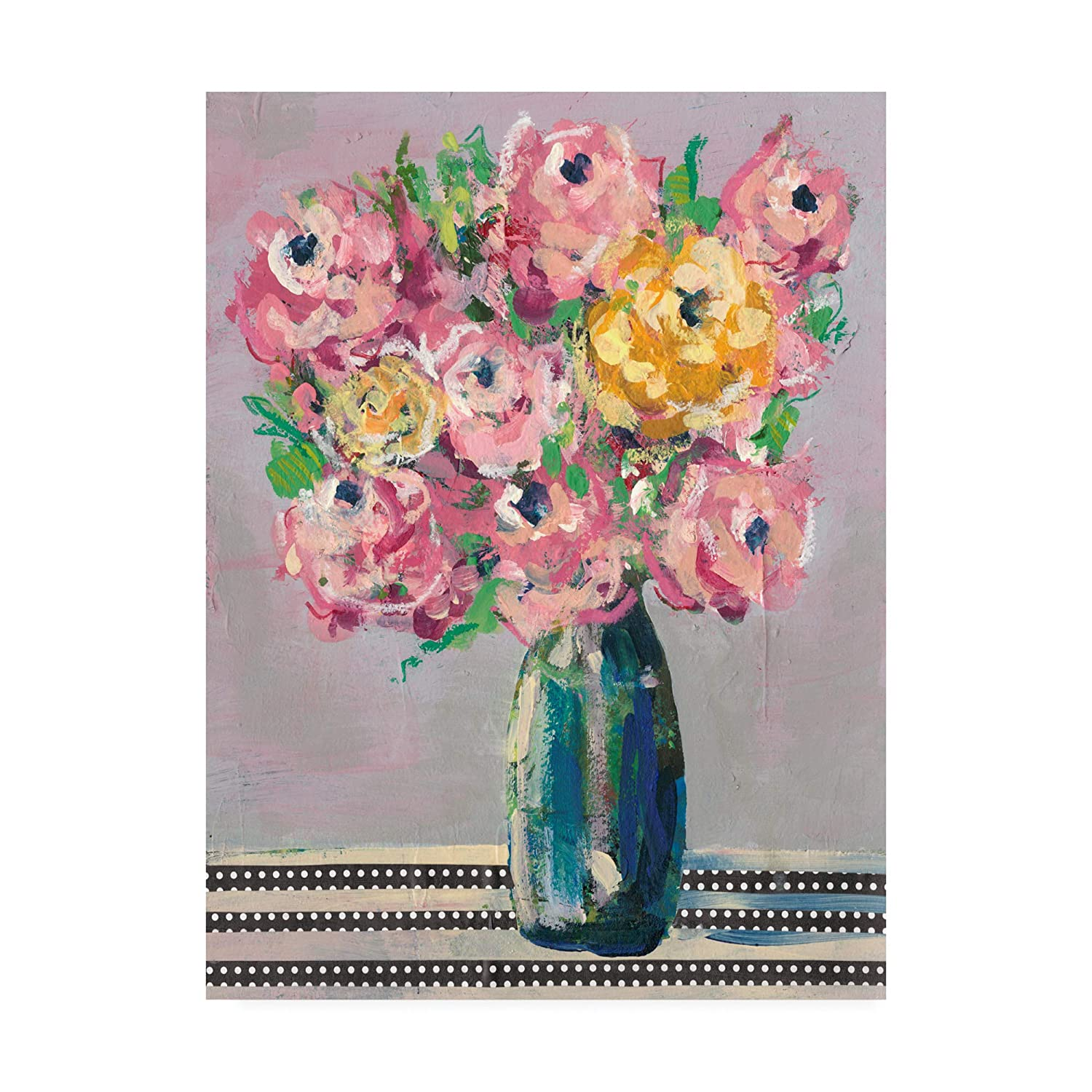 Trademark Fine Art Feisty Floral I by Regina Moore, 14x19