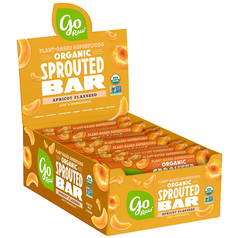 Go Raw Seed Bars, Apricot Flaxseed | Gluten Free Snacks | Vegan | Organic | Paleo | Superfood (30 Large Bars)