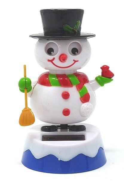 official photos f7d7b 3d19f Plastic Solar-Powered Dancing Snowman, 4