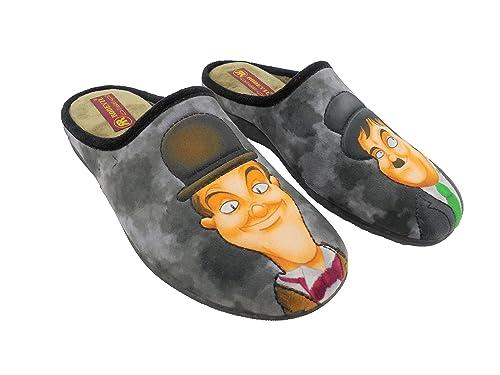 Zapatillas de estar por Casa para Hombre El Gordo y el Flaco mod.525.