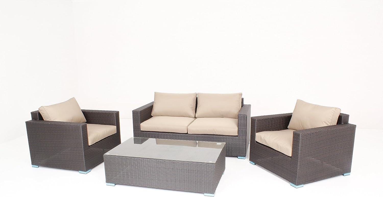 husen Outdoor Patio Pe Rattan Wicker 5 Pc Sofa Sectional Furniture Set 017-1
