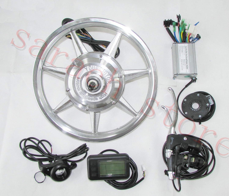 14インチ250W 36Vリアホイールハブモーター電動バイクキットebikeキット電動バイク変換キット   B07KX4SW7K