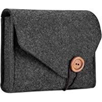 ProCase Estuche de Adaptador MacBook, Funda de Fieltro Bolsa de Almacenamiento Organizador de Accesorios Electrónicos para Fuente de Alimentación de MacBook Pro Air Magic Mouse Cable Cargador -Negro