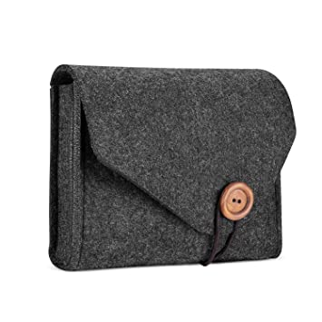 ProCase Estuche de Almacenamiento de Fieltro, Bolsa Portable Organizadora de Accesorios Electrónicos para MacBook Laptop Fuente de Alimentación ...