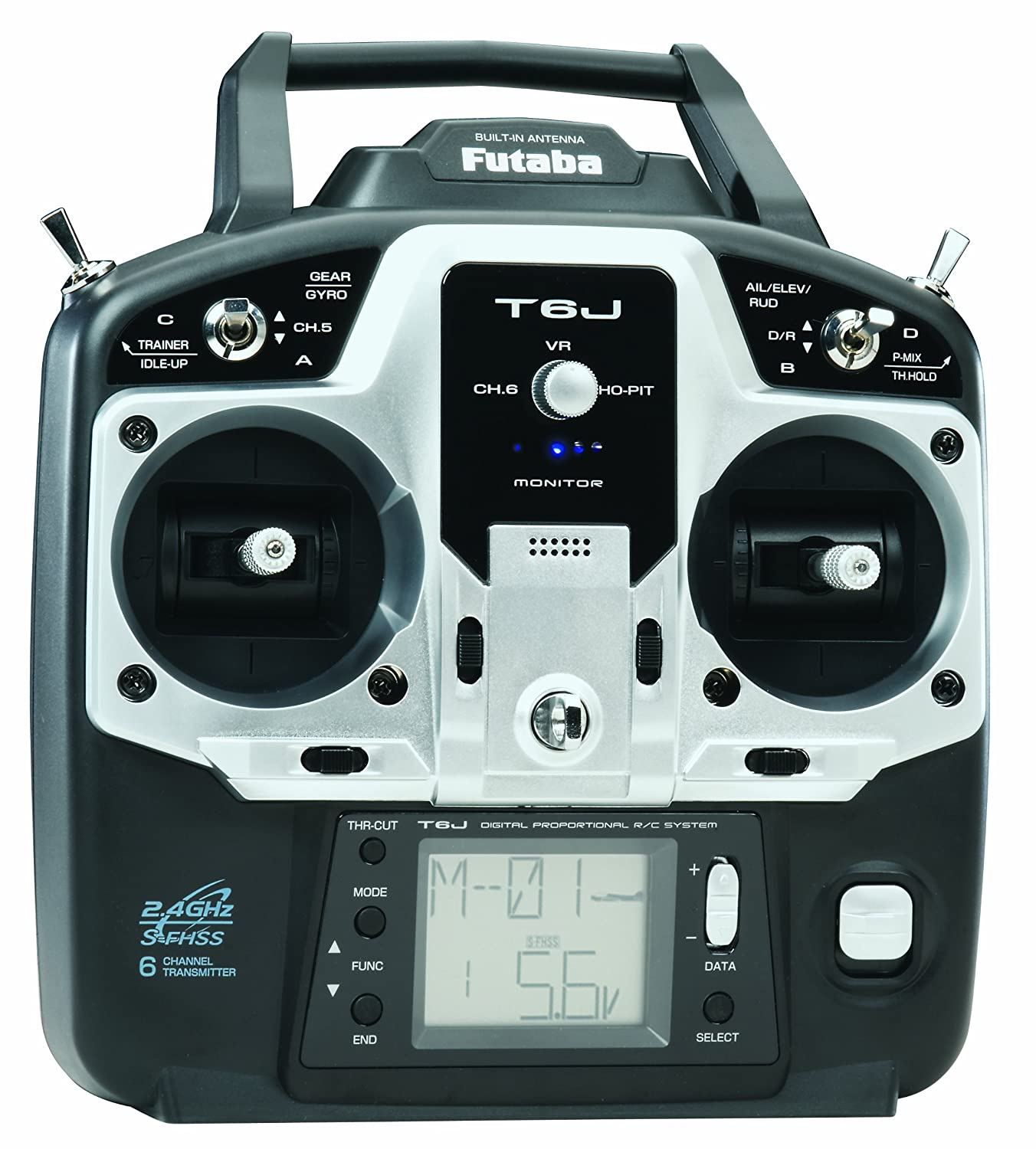 Amazon Futaba 6J 6 Channel S FHSS 2 4GHz Radio Transmitter with R2006GS Receiver Toys & Games