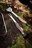 Gentlemen's Hardware GEN274 Portable and Detachable BBQ 5-in-1 Multi-Tool with Wood Handles & Stainless Steel Utensils