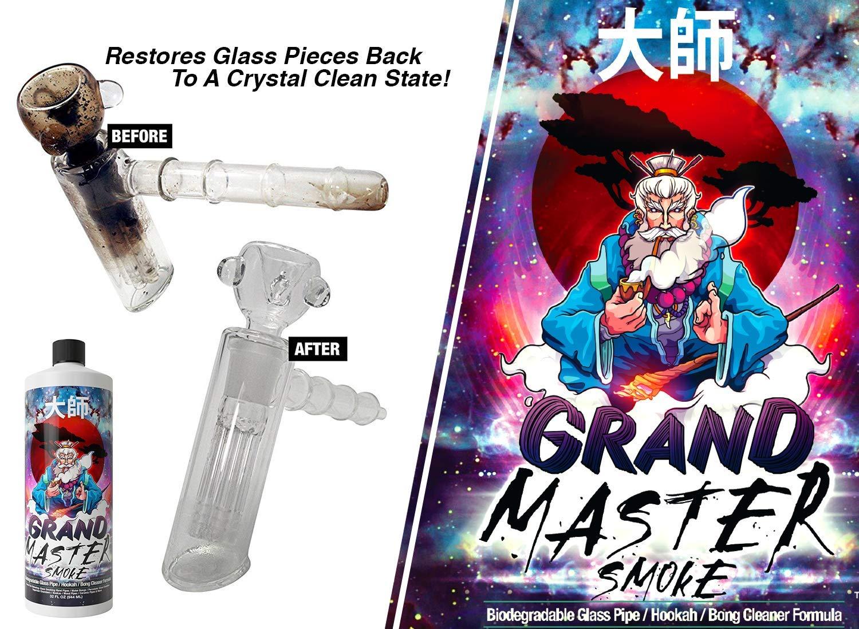 GRAND MASTER SMOKE (32oz) Soak & Wash Biodegradable Formula - Bong