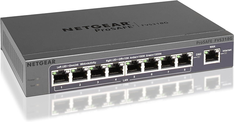 Netgear FVS318G Prosafe Gigabit 8 port VPN Firewall Router