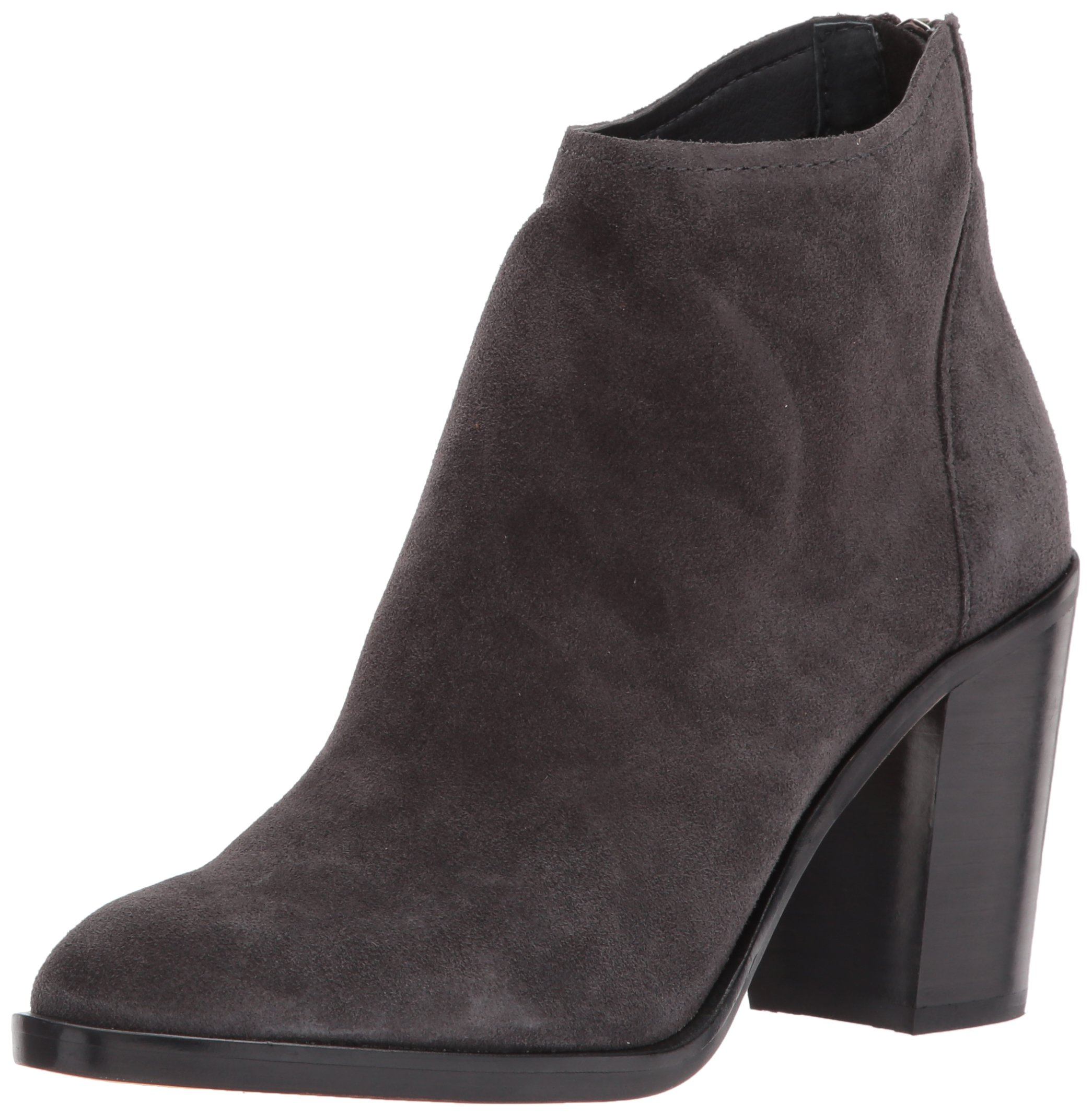 Dolce Vita Women's Stevie Ankle Boot, Anthracite Suede, 6 Medium US