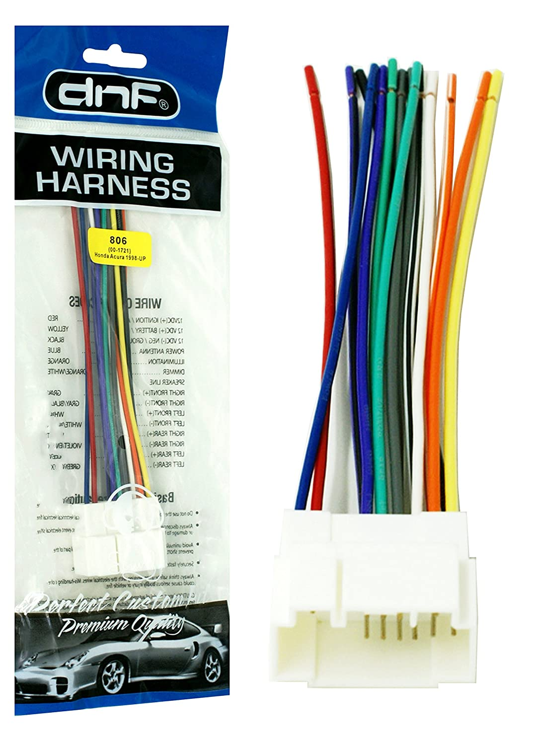 Amazon.com: DNF Wiring Harness Stereo + Radio Adapter S2K ... on
