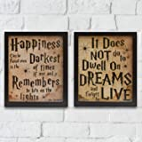 """Wood Motivational Framed Wall Art 12"""" x 10"""" Vintage Framed Wall Art with Inspirational Quotes and Sayings Wall Decor for Home Office - Set of 2"""