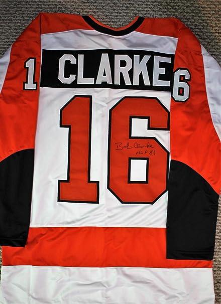 c376a2674 Autographed Bobby Clarke Philadelphia Custom Jersey with COA. at ...