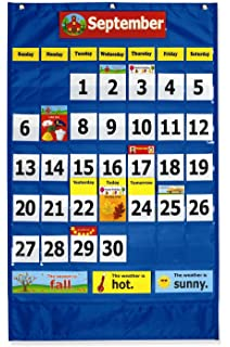 Amazon com lauri calendar pocket chart english spanish toys