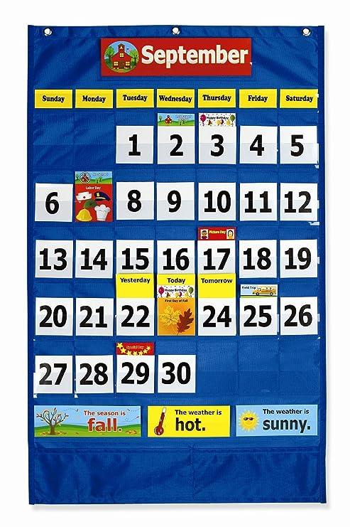 Amazon com pacon calendar weather pocket chart 0020800 office