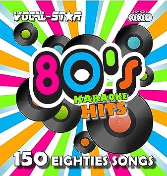 Vocal-Star 80s Karaoke CD CDG Disc Pack 8 Discs CDs 150 Songs: Vocal-Star Karaoke: Amazon.es: Música