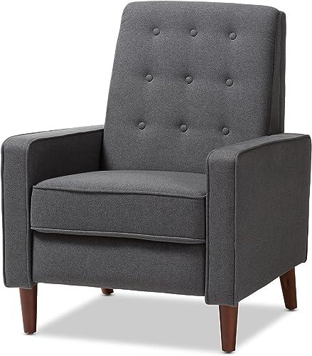 Baxton Studio Harlan Chair, Grey