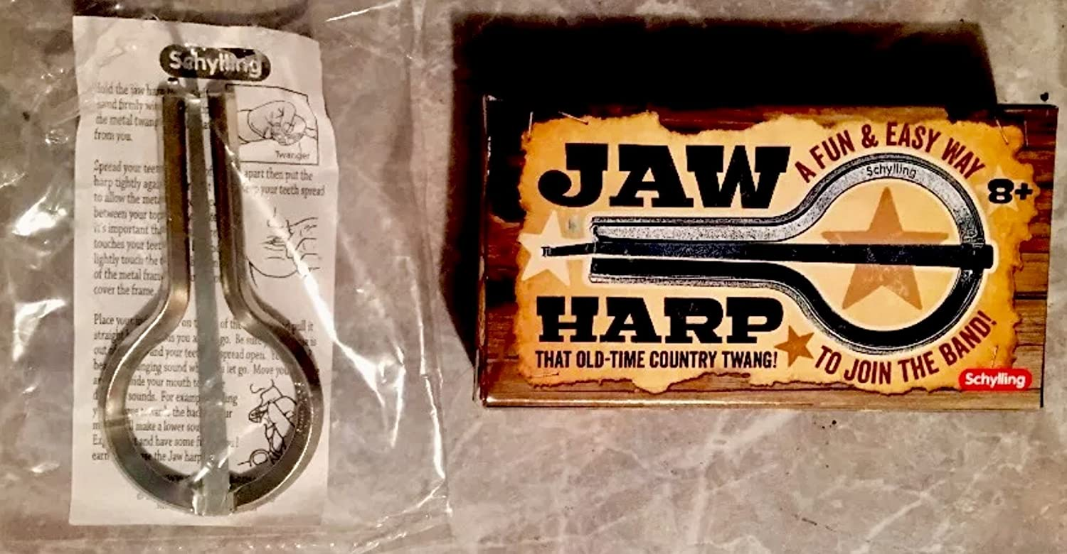 Classic Jaw Harp/Jews Mouth Instrument for Adults and Kids - Stainless Steel Musical Toy in Box - Perfect Country Music Gift w/Good Ole Twang Sound