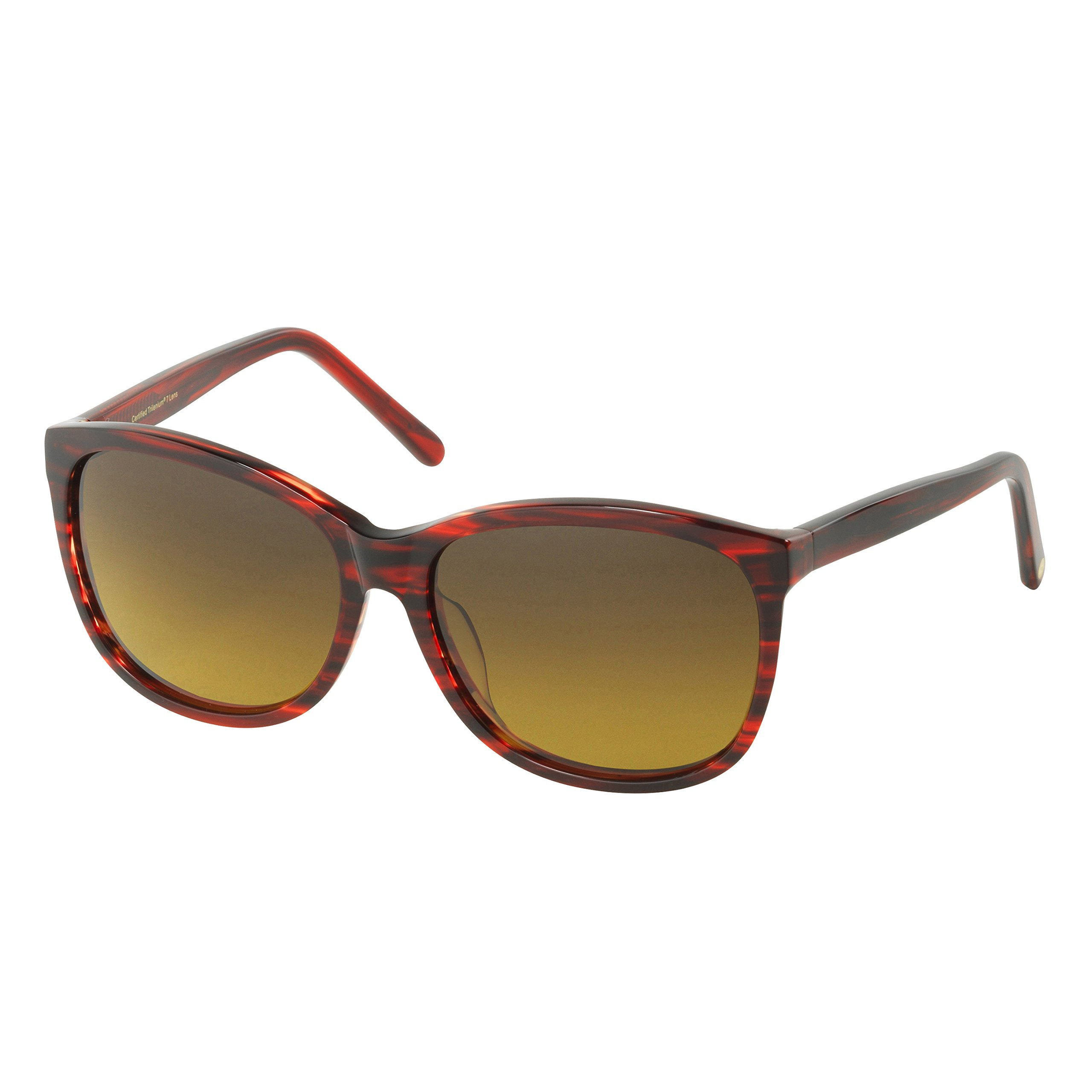 Eagle Eyes CARINA Oversized Sunglasses - Cranberry Tortoise Polarized Sunglasses for Ultimate Style and Protection