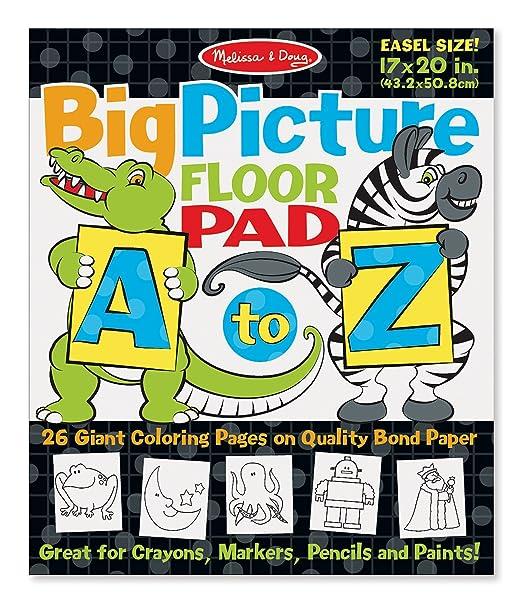 Amazon.com: Melissa & Doug A-Z Easel Pad: Melissa & Doug: Toys & Games