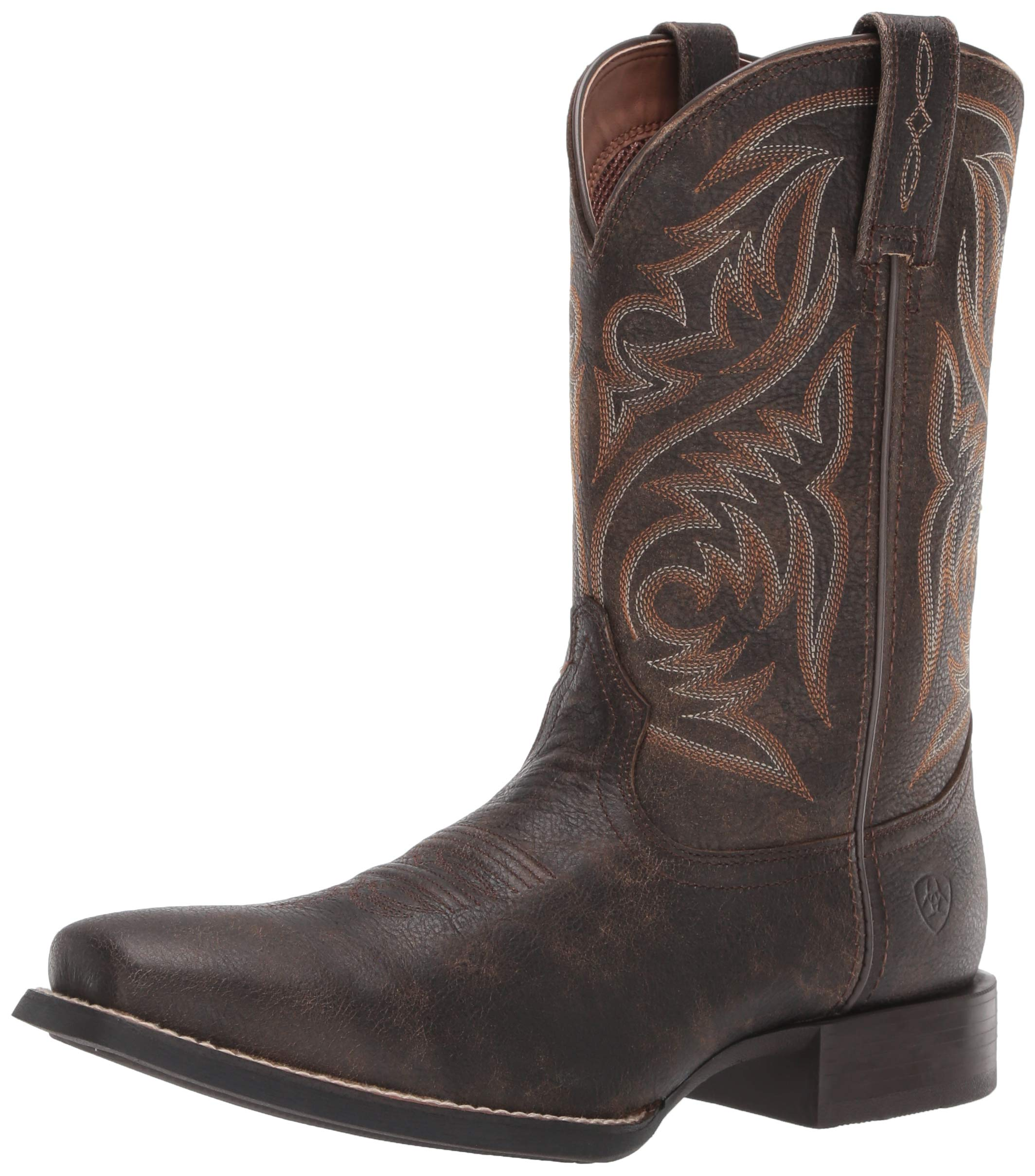 Ariat Men's Sport Herdsman Western Boot, Brooklyn Brown, 8.5EE