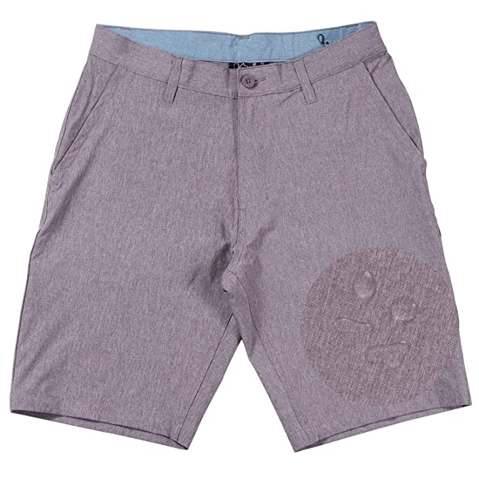 4dfc2095bc Burnside Hybrid Shorts For Men Quick Dry Stretch Lightweight Golf Short/ Boardshort (Brown-