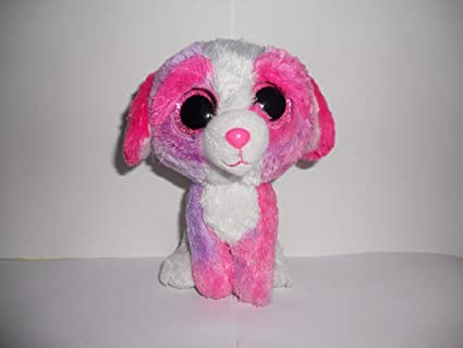 dac5f1a6cce Image Unavailable. Image not available for. Color  Ty Beanie Babies Beanie  Boos Sherbet The Pink Dog Valentines ...