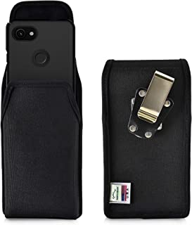 product image for Turtleback Belt Clip Case Designed for Google Pixel 3 XL and Pixel 3A XL (2019) Vertical Holster Black Nylon Pouch with Heavy Duty Rotating Belt Clip, Made in USA